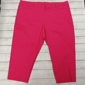 Lane Bryant Pink Cropped Capris Pants